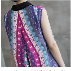 ワンピース レディース 40代 50代 60代 ファッション 女性 上品 リネン 膝丈 柄 ノースリーブ 春夏 ミセス|alice-style|04