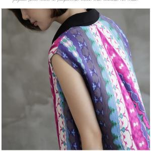 ワンピース レディース 40代 50代 60代 ファッション 女性 上品 リネン 膝丈 柄 ノースリーブ 春夏 ミセス|alice-style|05