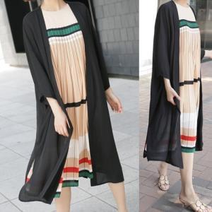 カーディガン レディース 40代 50代 60代 ファッション 女性 上品  黒  ベージュ ロングカーディガン きれいめ 春夏 ミセス|alice-style