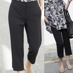パンツ レディース 40代 50代 60代 ファッション 女性 上品  黒  ベージュ  グレー スラックス きれいめ 春夏 ミセス|alice-style