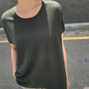 Tシャツ レディース 40代 50代 60代 ファッション 女性 上品  茶色  グレー  紺 青  カーキ 緑  カーキ 緑 半袖 無地 トップス 春夏 ミセス|alice-style