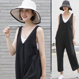 サロペット レディース 大人 40代 50代 60代 ファッション 女性 上品 黒 赤 ベージュ 無地 オールインワン 春夏 ミセス alice-style