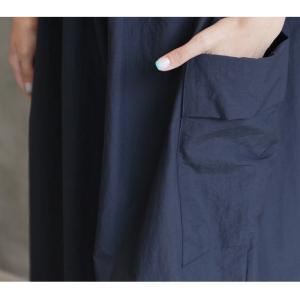 ワンピース レディース 40代 50代 60代 ファッション 女性 上品  紺 青 形状記憶 半袖 バイカラー ロング丈 ロングワンピース 春夏 ミセス|alice-style|20