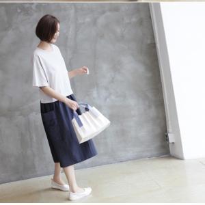 ワンピース レディース 40代 50代 60代 ファッション 女性 上品  紺 青 形状記憶 半袖 バイカラー ロング丈 ロングワンピース 春夏 ミセス|alice-style|09