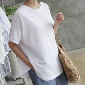 トップス レディース 大人 40代 50代 60代 ファッション 女性 上品 黒 白 赤 ベージュ Tシャツ 半袖 無地 シンプル 春夏 ミセス|alice-style