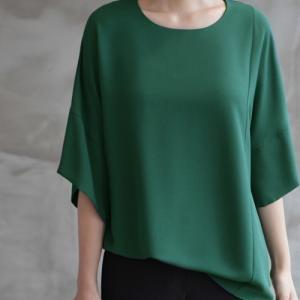 ブラウス レディース 40代 50代 60代 ファッション 女性 上品  黒  グレー トップス 無地 7分袖 きれいめ 春夏 ミセス|alice-style