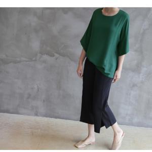 ブラウス レディース 40代 50代 60代 ファッション 女性 上品  黒  グレー トップス 無地 7分袖 きれいめ 春夏 ミセス|alice-style|12