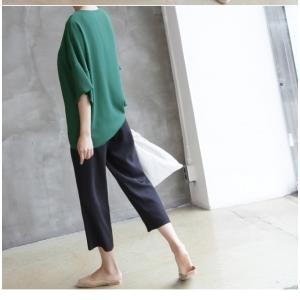 ブラウス レディース 40代 50代 60代 ファッション 女性 上品  黒  グレー トップス 無地 7分袖 きれいめ 春夏 ミセス|alice-style|13