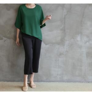 ブラウス レディース 40代 50代 60代 ファッション 女性 上品  黒  グレー トップス 無地 7分袖 きれいめ 春夏 ミセス|alice-style|19