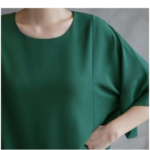 ブラウス レディース 40代 50代 60代 ファッション 女性 上品  黒  グレー トップス 無地 7分袖 きれいめ 春夏 ミセス|alice-style|04