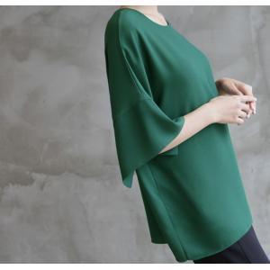 ブラウス レディース 40代 50代 60代 ファッション 女性 上品  黒  グレー トップス 無地 7分袖 きれいめ 春夏 ミセス|alice-style|05