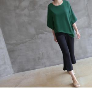 ブラウス レディース 40代 50代 60代 ファッション 女性 上品  黒  グレー トップス 無地 7分袖 きれいめ 春夏 ミセス|alice-style|07