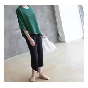 ブラウス レディース 40代 50代 60代 ファッション 女性 上品  黒  グレー トップス 無地 7分袖 きれいめ 春夏 ミセス|alice-style|09