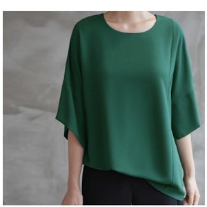 ブラウス レディース 40代 50代 60代 ファッション 女性 上品  黒  グレー トップス 無地 7分袖 きれいめ 春夏 ミセス|alice-style|10