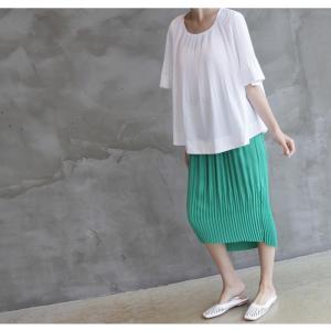 トップス レディース 40代 50代 60代 ファッション 女性 上品  黒 Tシャツ 半袖 無地 春夏 ミセス|alice-style|11