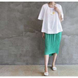 トップス レディース 40代 50代 60代 ファッション 女性 上品  黒 Tシャツ 半袖 無地 春夏 ミセス|alice-style|14