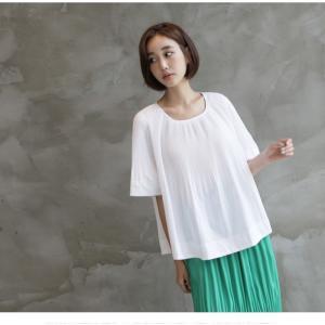 トップス レディース 40代 50代 60代 ファッション 女性 上品  黒 Tシャツ 半袖 無地 春夏 ミセス|alice-style|18
