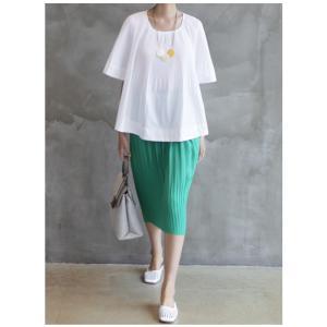 トップス レディース 40代 50代 60代 ファッション 女性 上品  黒 Tシャツ 半袖 無地 春夏 ミセス|alice-style|20
