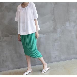 トップス レディース 40代 50代 60代 ファッション 女性 上品  黒 Tシャツ 半袖 無地 春夏 ミセス|alice-style|07