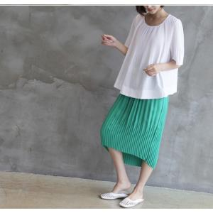 トップス レディース 40代 50代 60代 ファッション 女性 上品  黒 Tシャツ 半袖 無地 春夏 ミセス|alice-style|08