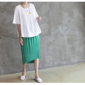 トップス レディース 40代 50代 60代 ファッション 女性 上品  黒 Tシャツ 半袖 無地 春夏 ミセス|alice-style|09