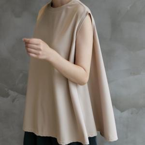 ブラウス レディース 40代 50代 60代 ファッション 女性 上品  黒  ベージュ  グレー 無地 ノースリーブ きれいめ トップス 春夏 ミセス|alice-style