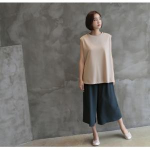 ブラウス レディース 40代 50代 60代 ファッション 女性 上品  黒  ベージュ  グレー 無地 ノースリーブ きれいめ トップス 春夏 ミセス|alice-style|14