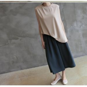 ブラウス レディース 40代 50代 60代 ファッション 女性 上品  黒  ベージュ  グレー 無地 ノースリーブ きれいめ トップス 春夏 ミセス|alice-style|18