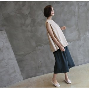 ブラウス レディース 40代 50代 60代 ファッション 女性 上品  黒  ベージュ  グレー 無地 ノースリーブ きれいめ トップス 春夏 ミセス|alice-style|05