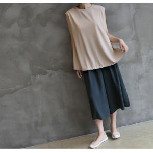 ブラウス レディース 40代 50代 60代 ファッション 女性 上品  黒  ベージュ  グレー 無地 ノースリーブ きれいめ トップス 春夏 ミセス|alice-style|10