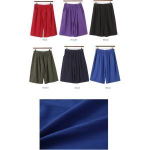 ハーフパンツ レディース 40代 50代 60代 ファッション 女性 上品  黒  赤  紺 青  カーキ 緑  カーキ 緑 コットン 春夏 ミセス|alice-style|02
