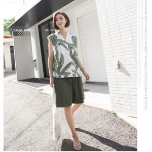 ハーフパンツ レディース 40代 50代 60代 ファッション 女性 上品  黒  赤  紺 青  カーキ 緑  カーキ 緑 コットン 春夏 ミセス|alice-style|14