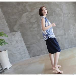 ハーフパンツ レディース 40代 50代 60代 ファッション 女性 上品  黒  赤  紺 青  カーキ 緑  カーキ 緑 コットン 春夏 ミセス|alice-style|15