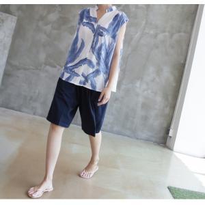 ハーフパンツ レディース 40代 50代 60代 ファッション 女性 上品  黒  赤  紺 青  カーキ 緑  カーキ 緑 コットン 春夏 ミセス|alice-style|16