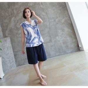 ハーフパンツ レディース 40代 50代 60代 ファッション 女性 上品  黒  赤  紺 青  カーキ 緑  カーキ 緑 コットン 春夏 ミセス|alice-style|19
