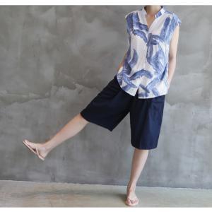 ハーフパンツ レディース 40代 50代 60代 ファッション 女性 上品  黒  赤  紺 青  カーキ 緑  カーキ 緑 コットン 春夏 ミセス|alice-style|09