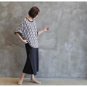 ブラウス レディース 40代 50代 60代 ファッション 女性 上品 柄 トップス ゆったり 体形カバー 春夏 ミセス|alice-style|11