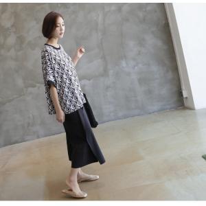 ブラウス レディース 40代 50代 60代 ファッション 女性 上品 柄 トップス ゆったり 体形カバー 春夏 ミセス|alice-style|16