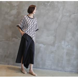 ブラウス レディース 40代 50代 60代 ファッション 女性 上品 柄 トップス ゆったり 体形カバー 春夏 ミセス|alice-style|21