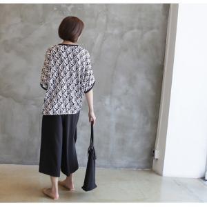 ブラウス レディース 40代 50代 60代 ファッション 女性 上品 柄 トップス ゆったり 体形カバー 春夏 ミセス|alice-style|05