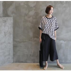 ブラウス レディース 40代 50代 60代 ファッション 女性 上品 柄 トップス ゆったり 体形カバー 春夏 ミセス|alice-style|06