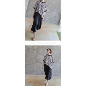 ブラウス レディース 40代 50代 60代 ファッション 女性 上品 柄 トップス ゆったり 体形カバー 春夏 ミセス|alice-style|07