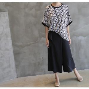 ブラウス レディース 40代 50代 60代 ファッション 女性 上品 柄 トップス ゆったり 体形カバー 春夏 ミセス|alice-style|10
