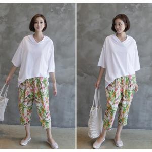 Tシャツ レディース 40代 50代 60代 ファッション 女性 上品  黒  白  茶色  グレー トップス フード パーカー 無地 ゆったり 春夏 ミセス|alice-style|14