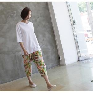Tシャツ レディース 40代 50代 60代 ファッション 女性 上品  黒  白  茶色  グレー トップス フード パーカー 無地 ゆったり 春夏 ミセス|alice-style|15