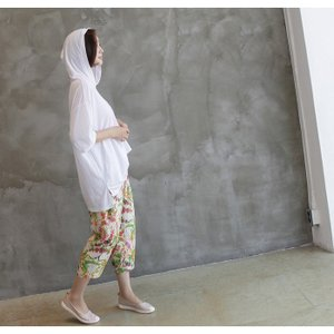 Tシャツ レディース 40代 50代 60代 ファッション 女性 上品  黒  白  茶色  グレー トップス フード パーカー 無地 ゆったり 春夏 ミセス|alice-style|17