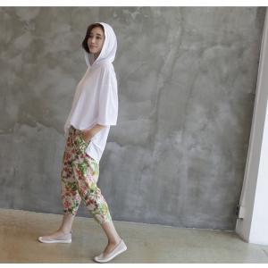 Tシャツ レディース 40代 50代 60代 ファッション 女性 上品  黒  白  茶色  グレー トップス フード パーカー 無地 ゆったり 春夏 ミセス|alice-style|03