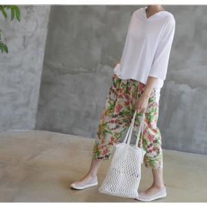 Tシャツ レディース 40代 50代 60代 ファッション 女性 上品  黒  白  茶色  グレー トップス フード パーカー 無地 ゆったり 春夏 ミセス|alice-style|10
