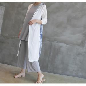 カーディガン レディース 40代 50代 60代 ファッション 女性 上品 ロングカーディガン タイダイ ロング丈 春夏 ミセス|alice-style|11