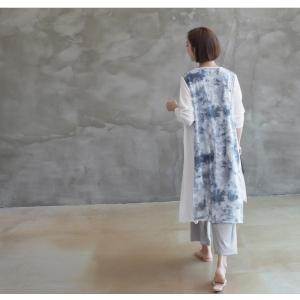 カーディガン レディース 40代 50代 60代 ファッション 女性 上品 ロングカーディガン タイダイ ロング丈 春夏 ミセス|alice-style|20